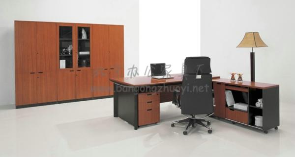 实木老板办公桌_北京办公家具厂
