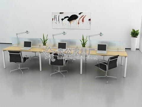 办公桌屏风隔断四人组合